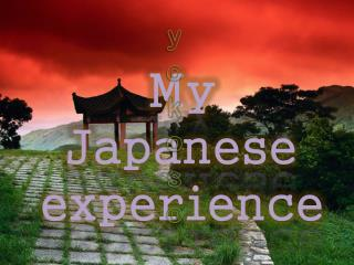 My Japanese experience