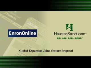 Global Expansion Joint Venture Proposal