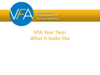 VFA Year Two: What it looks like