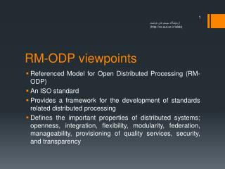 RM-ODP viewpoints