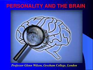 PERSONALITY AND THE BRAIN