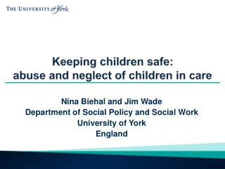 Keeping children safe: abuse and neglect of children in care