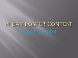 Pi Day Poster Contest