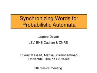 Synchronizing Words for Probabilistic Automata