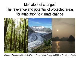 Aliances Workshop at the IUCN World Conservation Congress 2008 in Barcelona, Spain