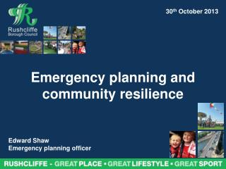 Emergency planning and community resilience