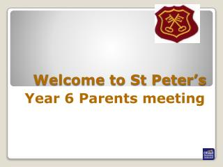 Welcome to St Peter's