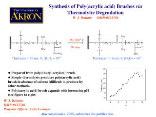 ●  Prepared from poly (t -butyl acrylate) brush .