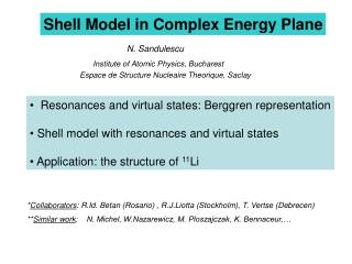 Shell Model in Complex Energy Plane