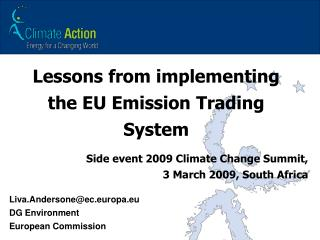 Lessons from implementing the EU Emission Trading System