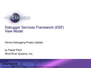 Debugger Services Framework (DSF) View Model