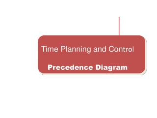 Time Planning and Con trol Precedence Diagram