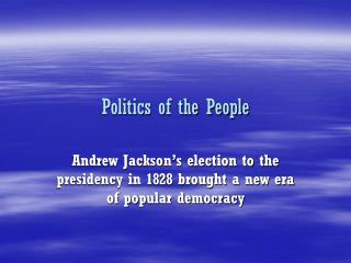 Politics of the People