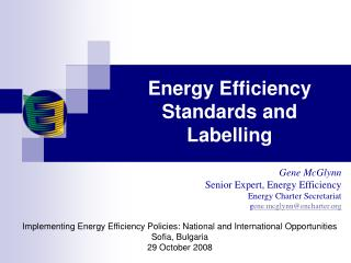 Energy Efficiency Standards and Labelling
