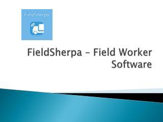FieldSherpa – Field Worker Software