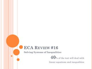 ECA Review #16