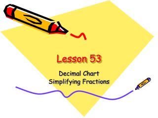 Lesson 53