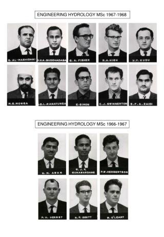 ENGINEERING HYDROLOGY MSc 1967-1968