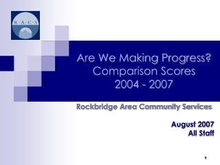 Are We Making Progress? Comparison Scores  2004 - 2007