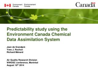 Predictability study using the Environment Canada Chemical Data Assimilation System