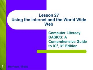 Lesson 27 Using the Internet and the World Wide Web