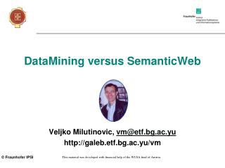 DataMining versus SemanticWeb