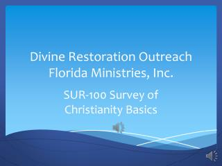 Survey of Christianity Basics revision version