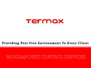 vaughan pest control services