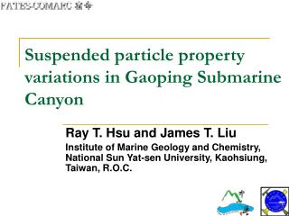Suspended particle property variations in Gaoping Submarine Canyon