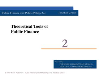 Theoretical Tools of Public Finance