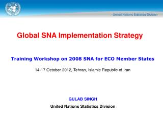 Global SNA Implementation Strategy