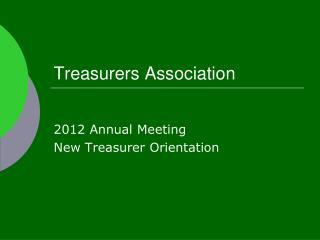 Treasurers Association