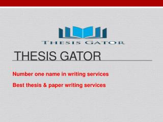Best Thesis and Dissertation Writing Services