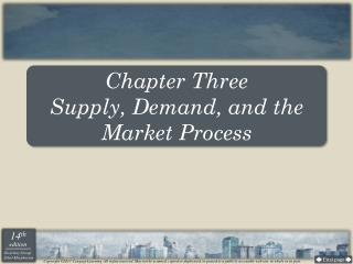 Chapter Three Supply, Demand, and the Market Process
