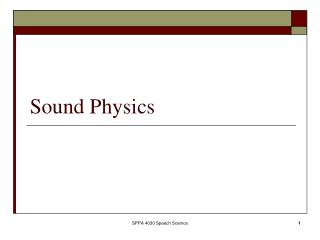 Sound Physics