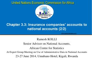 Chapter  3.3: Insurance companies' accounts to national accounts (2/2)
