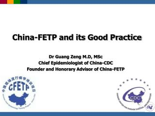 China-FETP and its Good Practice