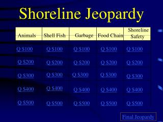 Shoreline Jeopardy