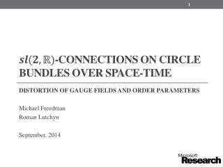 -connections on circle bundles over space-time