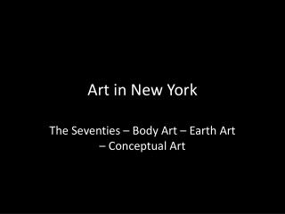 Art in New York