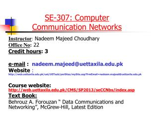 SE-307: Computer Communication Networks