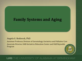 Family Systems and Aging