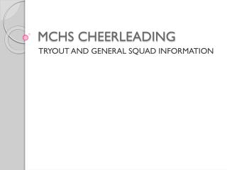 MCHS CHEERLEADING