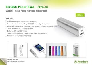 Portable Power Bank –  SPPW-221