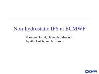Non-hydrostatic IFS at ECMWF