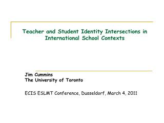 Teacher and Student Identity Intersections in International School Contexts