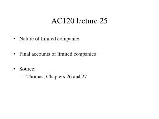 AC120 lecture  25