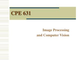 CPE 631