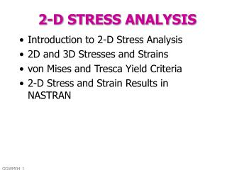 2-D STRESS ANALYSIS