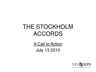 THE STOCKHOLM ACCORDS
